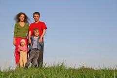 Familie van vier Stock Foto's