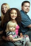 Familie van vier Stock Foto