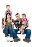 Familie van vier Royalty-vrije Stock Foto's