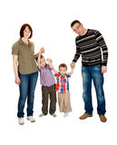Familie van vier Stock Fotografie