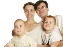 Familie van vier Royalty-vrije Stock Fotografie