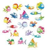 Familie van vissen Stock Foto