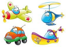 Familie van voertuigen Royalty-vrije Stock Afbeelding