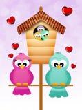 Familie van vogel vector illustratie