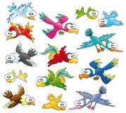 Familie van vogels Stock Foto's