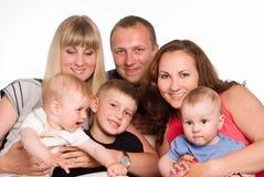 Familie van zes Stock Fotografie