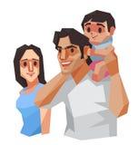 Familie, vectorillustratie Stock Foto
