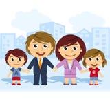 Familie vereinigt durch die Hand Stockbild