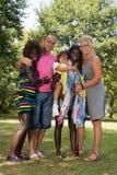 Familie volledig lichaam Stock Fotografie