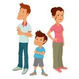 Familie von drei Stockfoto