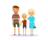 Familie von drei stock abbildung