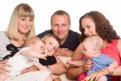 Familie von sechs Stockfotos