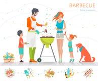 Familie am Wochenende Lizenzfreie Stockbilder