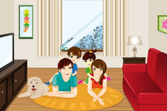 Familie zu Hause Stockfotos