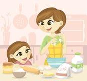 Familiebaksel vector illustratie
