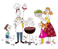 Familiebarbecue Royalty-vrije Stock Fotografie