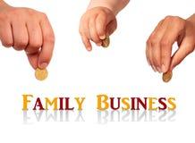 Familiebedrijfconcept. Stock Foto's