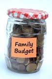Familiebegroting stock afbeeldingen