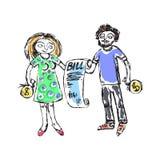 Familiebegroting gelijkaardige 2 royalty-vrije illustratie