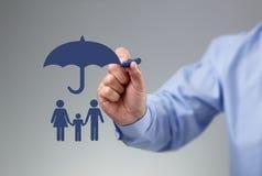 Familiebescherming Royalty-vrije Stock Afbeeldingen