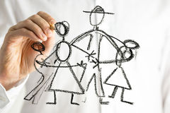 Familiecirkel Royalty-vrije Stock Fotografie
