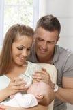 Familiehapiness Stock Foto's