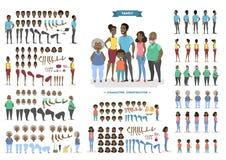 Familiekarakter - voor animatie wordt geplaatst die vector illustratie