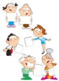 Familiekarakters Stock Foto's
