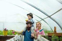 Familielandbouw de cultuur van de familielandbouw het concept van de familielandbouw de industrie van de familielandbouw binnen royalty-vrije stock foto