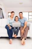 familielaptop computer Royalty-vrije Stock Afbeelding