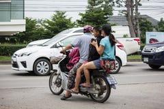 Familiemotorfiets, Honda-Droom Royalty-vrije Stock Afbeelding