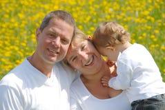 Familien-Abbildung mit Kleinkind Lizenzfreie Stockbilder