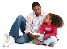 Familien-Anbetung Stockfoto