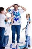 Familien-Anstrich Stockfoto