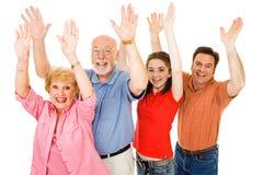 Familien-Aufregung Lizenzfreies Stockfoto