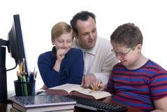 Familien-Ausbildung Stockfotografie