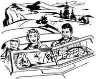 Familien-Autoreise lizenzfreie abbildung