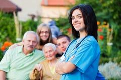 Familien-Betreuer stockbilder