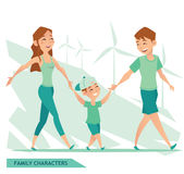 FAMILIEN-CHARAKTER-Vektordesign ENV 10 Lizenzfreie Stockfotos