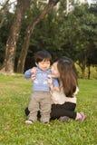 Familien chinesisch Stockbild