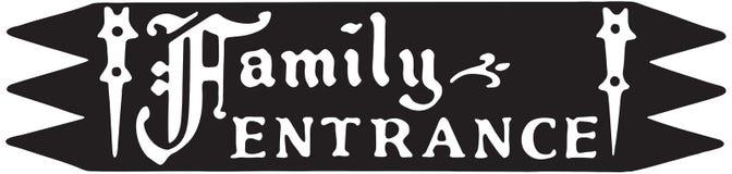 Familien-Eingang stock abbildung