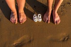 Familien-Füße lizenzfreie stockbilder