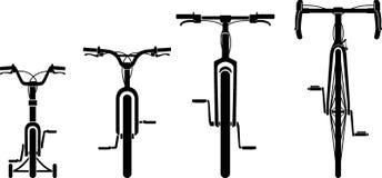 Familien-Fahrrad gesetzter Front View Lizenzfreie Stockbilder