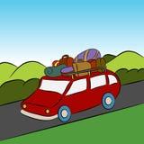 Familien-Ferien-Auto-Reise vektor abbildung