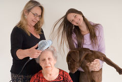 Familien-Foto Stockbild
