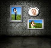 Familien-Fotos Stockbilder