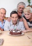 Familien-Geburtstag Stockbilder