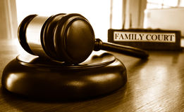 Familien-Gericht Stockfotos