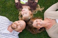 Familien-Gesichter lizenzfreies stockbild