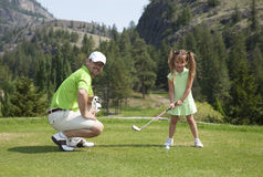 Familien-Golf Lizenzfreie Stockfotos